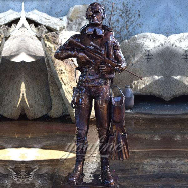 Antique design Bronze Future Warrior statue for home decor