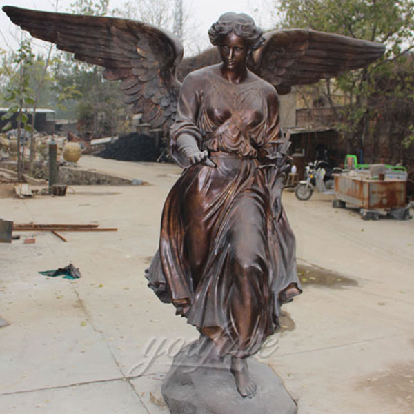 Bronze angel figurines guardian angel statue for garden