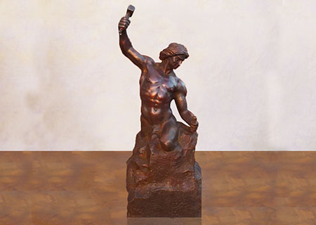Classical decorative indoor bronze self made man statue for sale