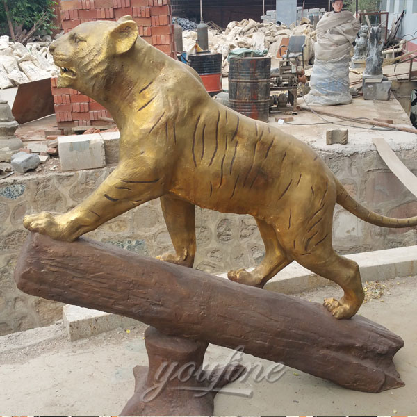 Custom metal life size bronze tiger statue for sale