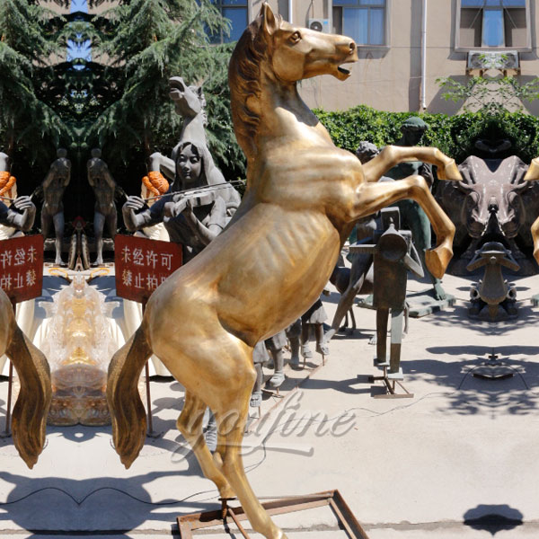 Antique Life Size bronze horse statue for sale