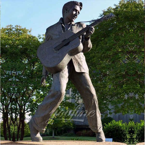 Outdoor Custom Life Size Famous Bronze Elvis Presley Statue for sale