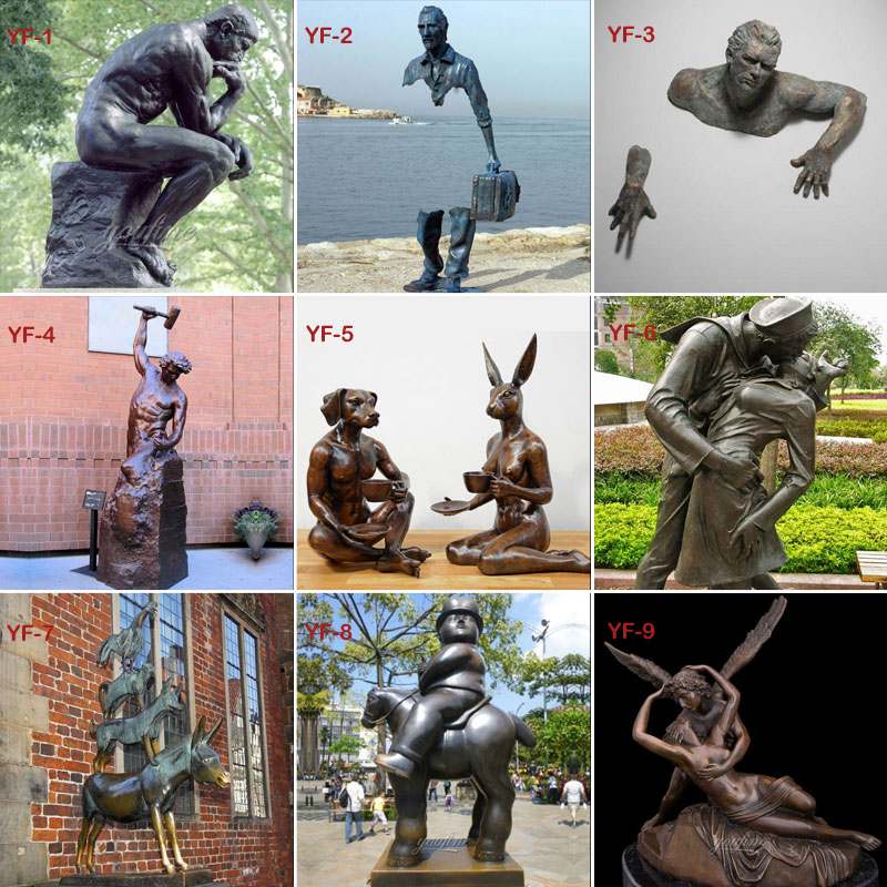 Famous bronze statues designs
