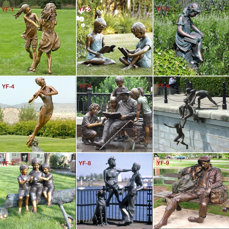 outdoor bronze casting art statues designs