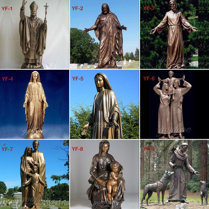 bronze religious statues designs