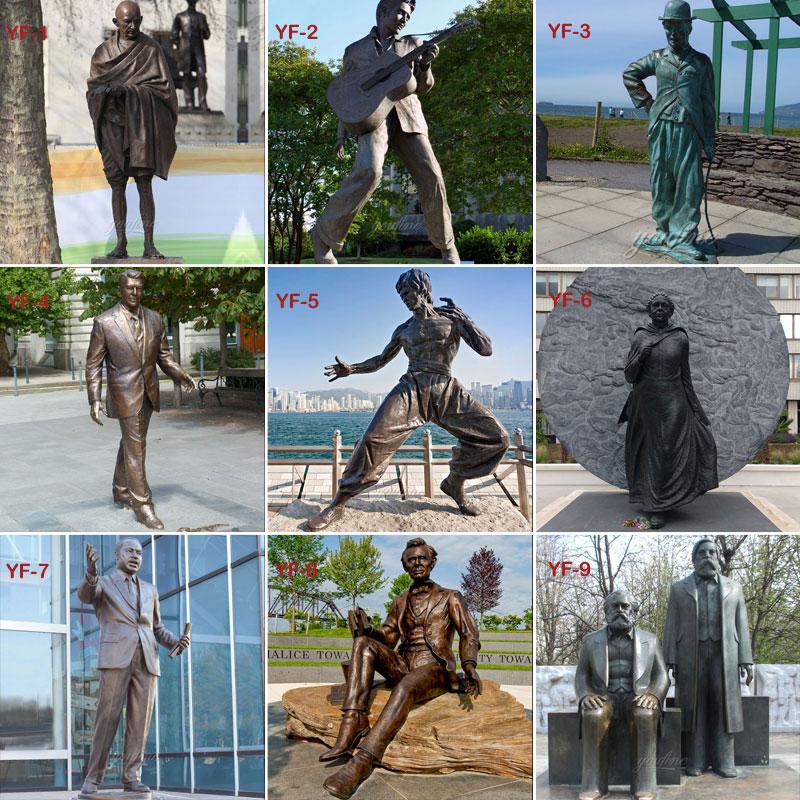 bronze casting famous figure statues designs