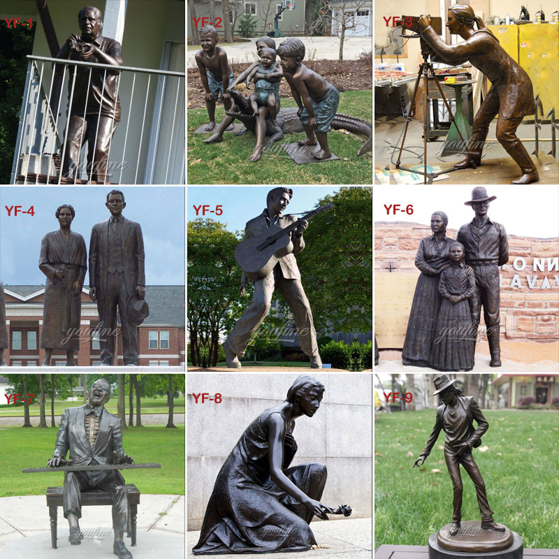 custom bronze casting figures statues from photo