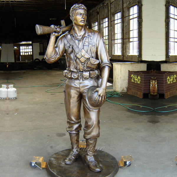 Bronze casting british military yard life size statues gifts