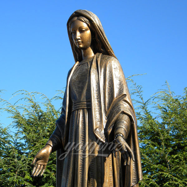 Bronze casting custom design religious statues our lady of grace statues outdoor