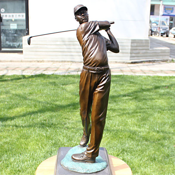 Bronze casting famous art statues Tiger Woods