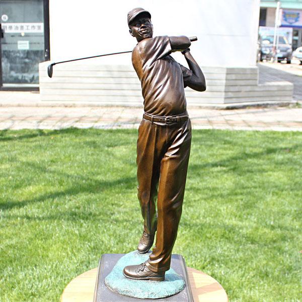 Bronze casting famous art statues Tiger Woods