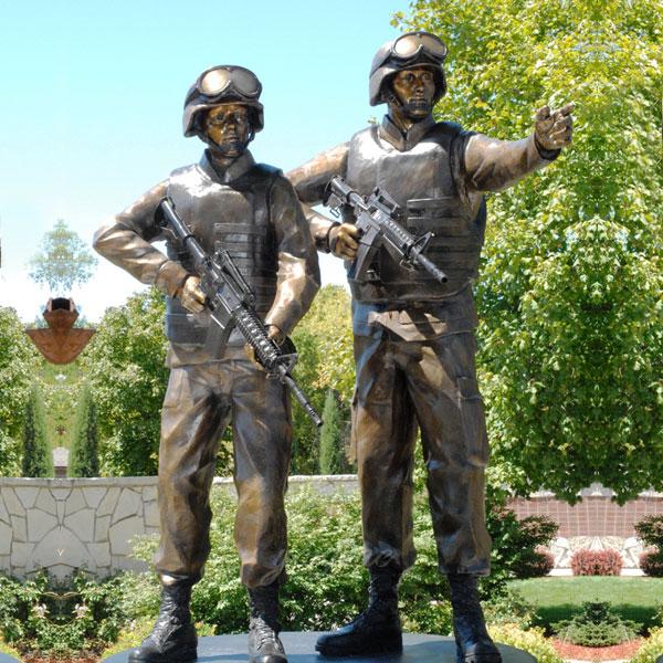 Bronze casting life size pilot statues lawn ornaments