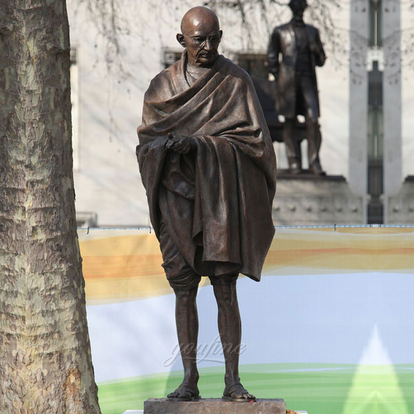 Indian Famous historical figure bronze casting statues mohandas karamchand gandhi outdoor