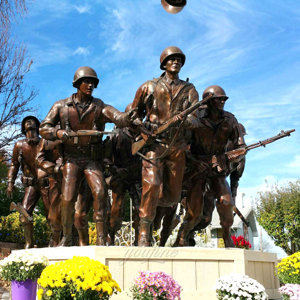 Large military life size bronze casting soldier statues for sale