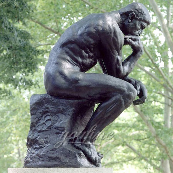 Life size famous bronze casting art statues the thinker Rodin