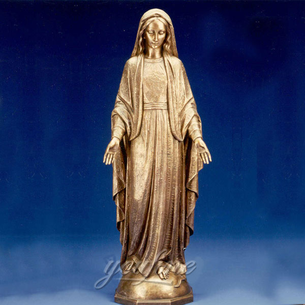 Our lady of grace bronze casting religious statues for sale