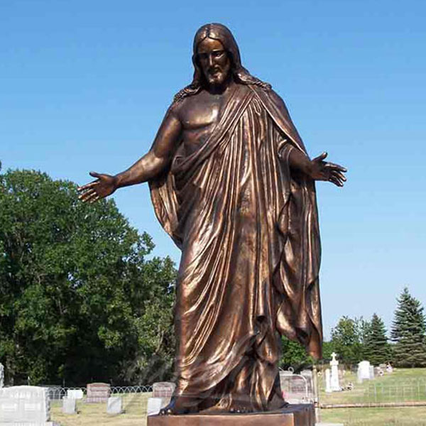 Outdoor garden religious bronze casting statues of Jesus for sale