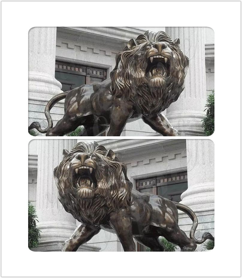large bronze lion statue