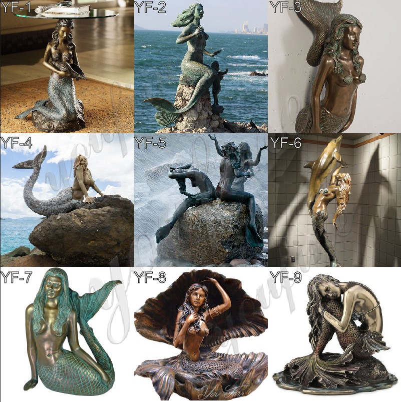bronze mermaid