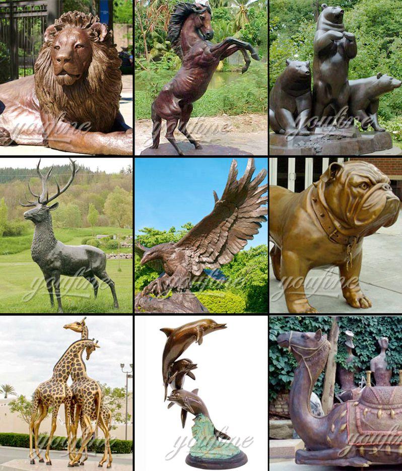 life size bronze animal statue
