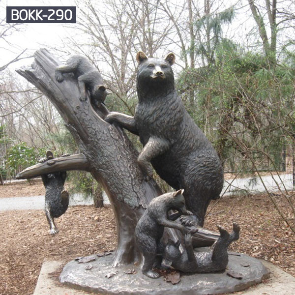 Buy Life Size Bronze Bear Statue Family Sculpture for Sale BOKK-290