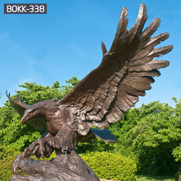 Buy Wholesale Life Size Bronze Eagle Statue for Decoration BOKK-338