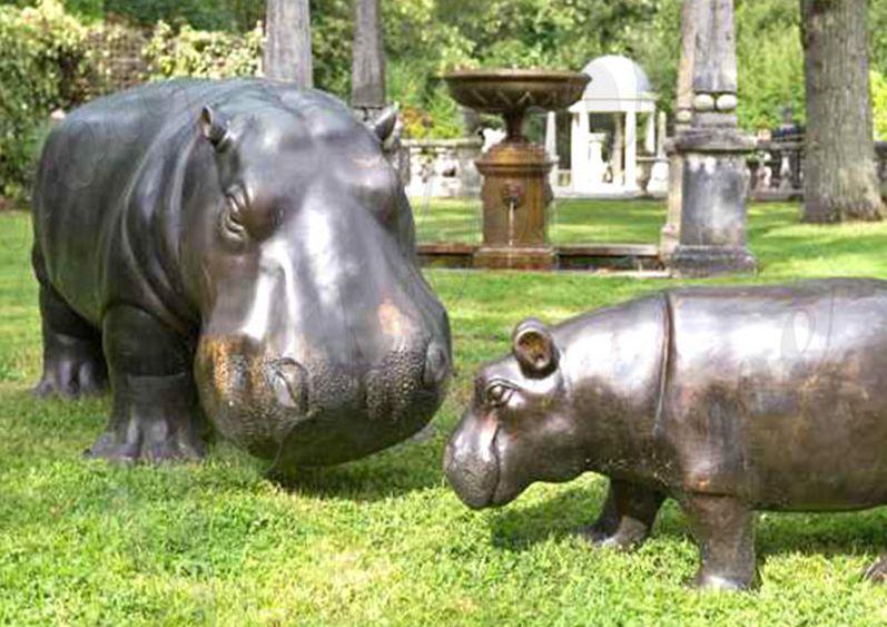 Buy Life size bronze hippo statue for decor