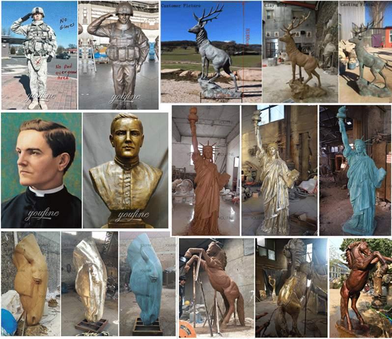 Life Size Bronze custom military sculpture