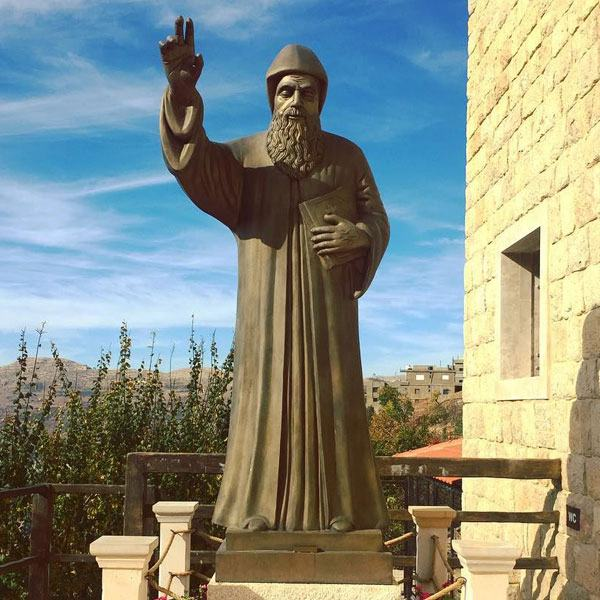 Wholesale Life Size Bronze Religious Charbel Statue for Sale BOKK-611