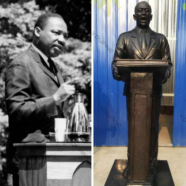 High Quality Bronze Custom Made Martin Luther King Sculpture for Sale