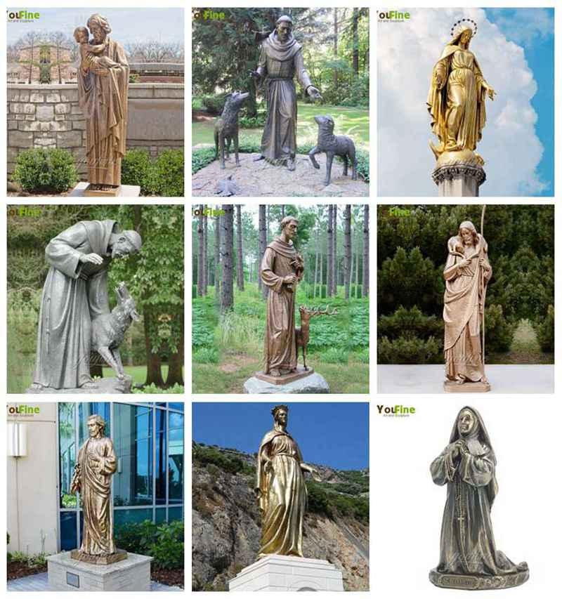 Life Size Mary Joseph Catholic Bronze Religious Statues
