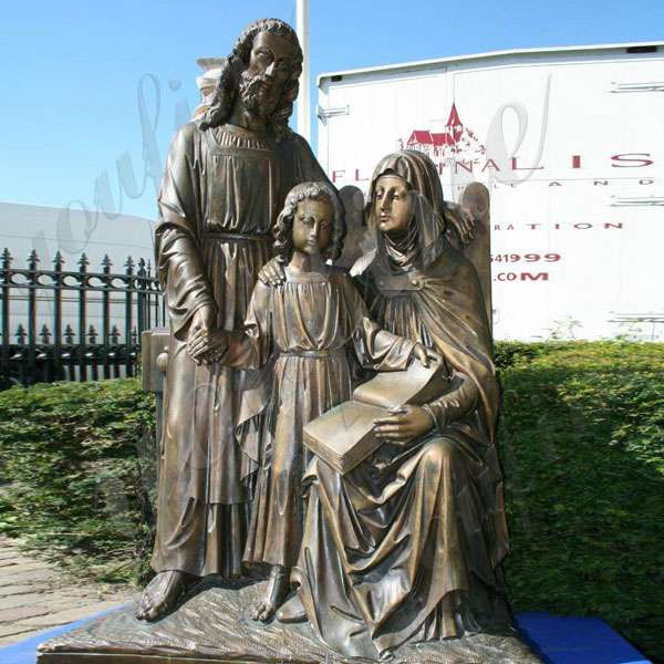 Life Size Mary Joseph and Baby Jesus Catholic Bronze Religious Statues for Outdoor BOKK-603