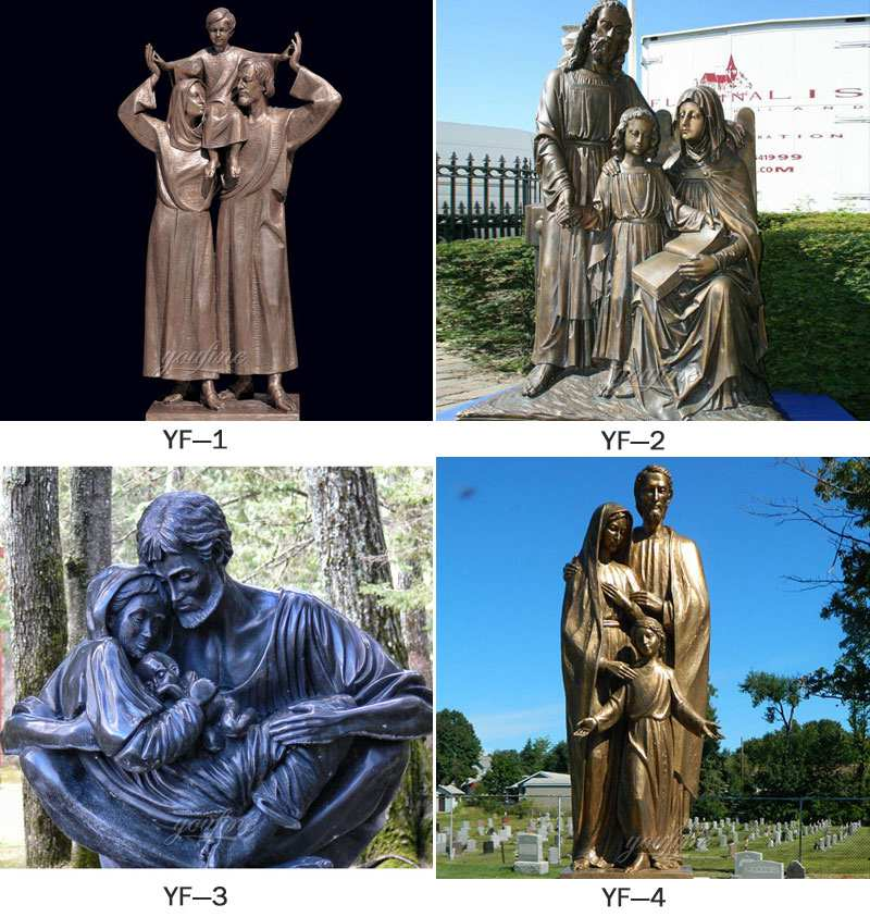 Life Size Mary Joseph and Baby Jesus Catholic Bronze Religious Statues
