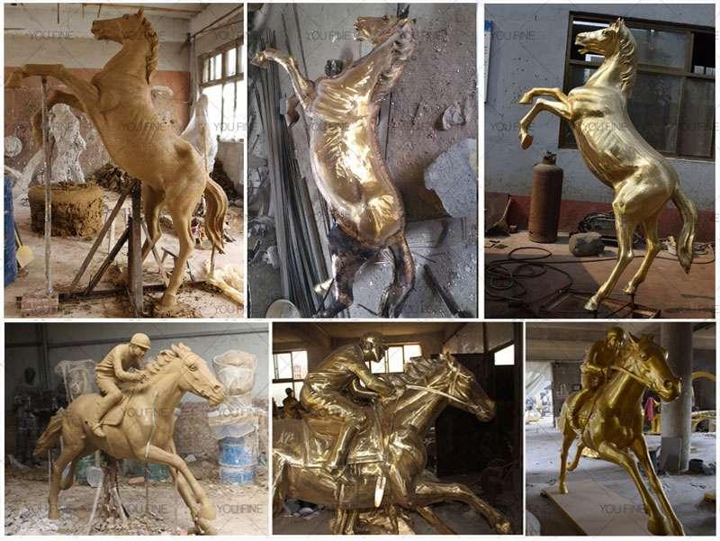 Life Size Bronze Horse Sculpture for Garden Decor