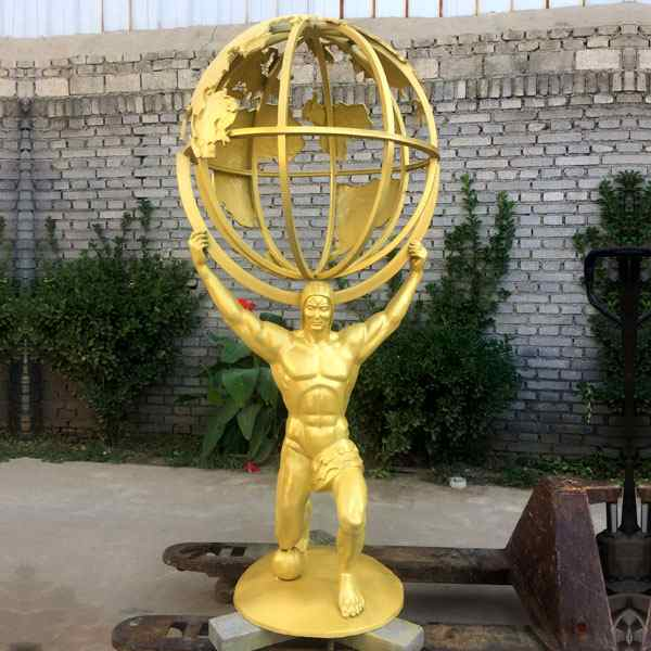 Full Size Bronze Atlas Holding World Greek Statue