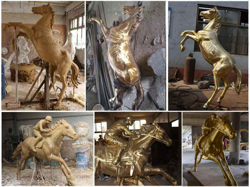 Buy High Quality Bronze Horses Ornaments for Garden Decor