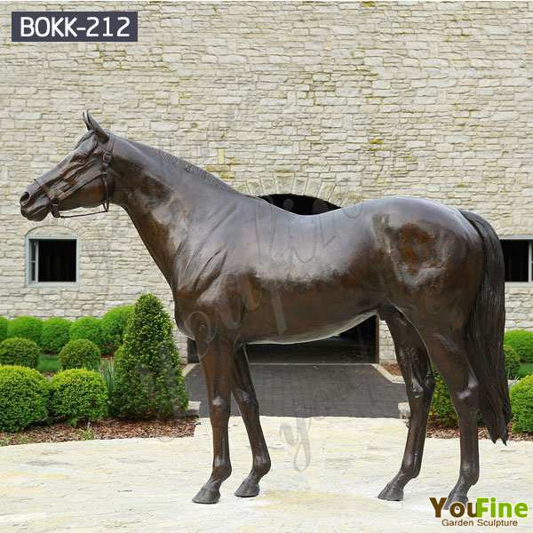 Buy Life Size High Quality Bronze Horses Ornaments for Garden Decor BOKK-212