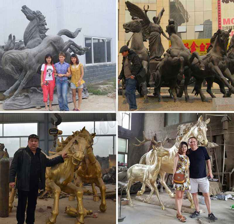Life Size High Quality Bronze Horses Ornaments for Garden Decor
