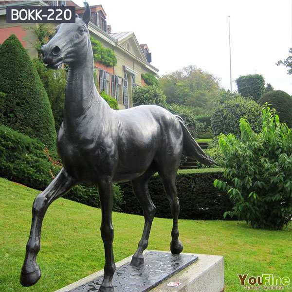 Life Size bronze outdoor horse statues for sale BOKK-220
