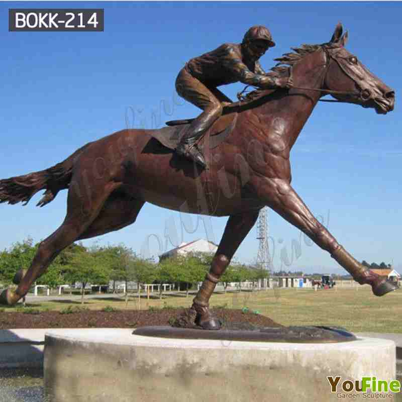 Bronze Horseman Statue Sculpture for Outdoor Garden Decor