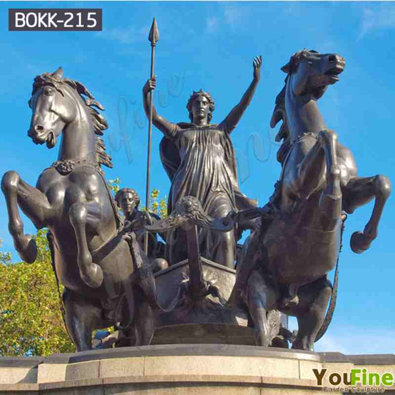 High Quality Large Bronze Chariot Statue for Sale BOKK-215