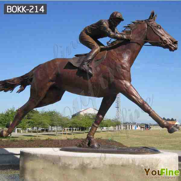 Life Size Bronze Horseman Statue Sculpture for Outdoor Garden Decor BOKK-214