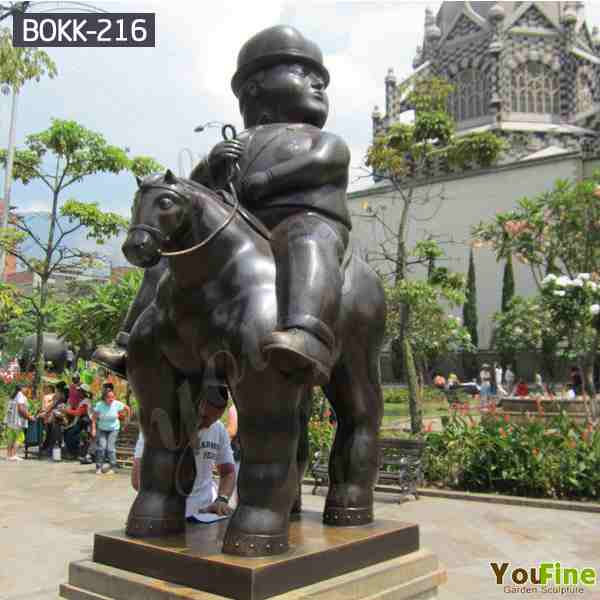 Life Size High Quality Bronze Botero Statue Fat Horse Sculpture for Sale BOKK-216