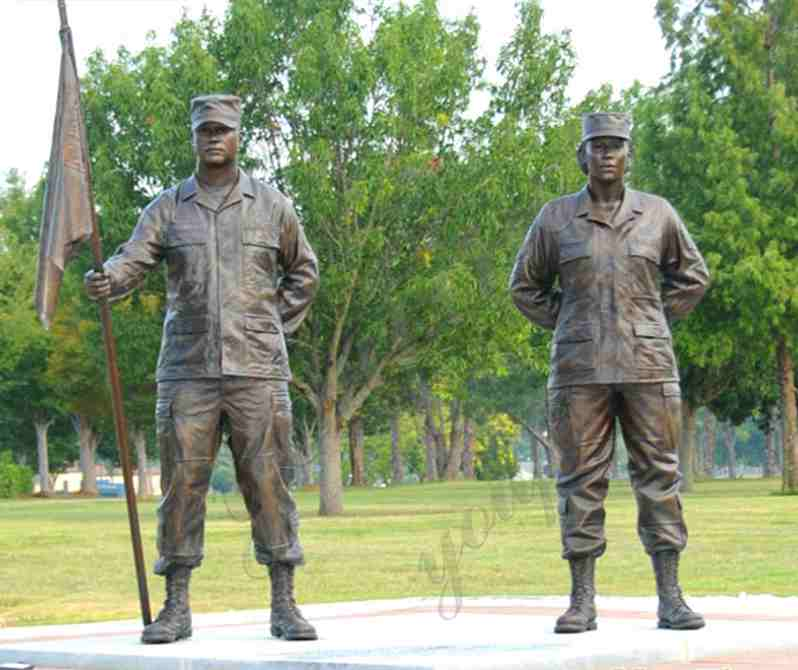 High Quality Bronze Military Soldier Statues Group for Outdoor Memorial