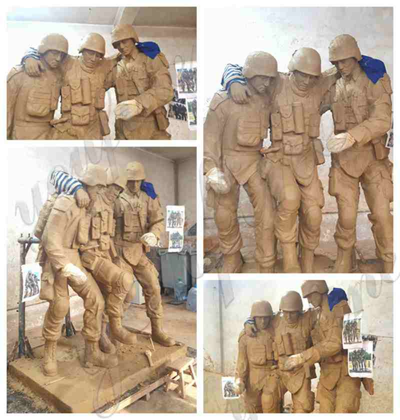 Life Size Bronze Military Monuments Statues for Outdoor Decor BOKK-31