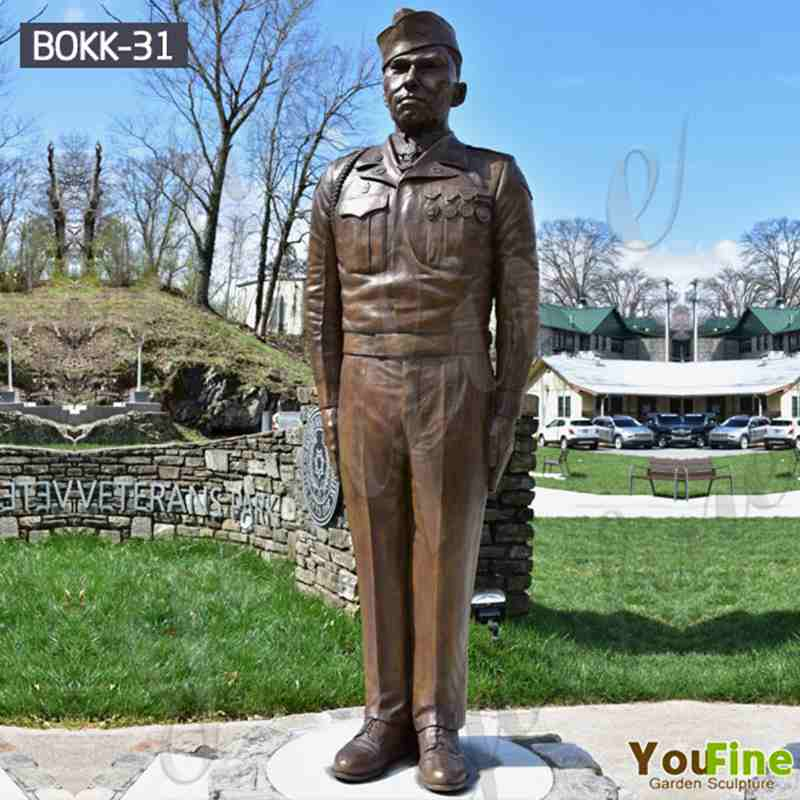 Life Size Bronze Military Monuments Statues for Outdoor Garden Decor