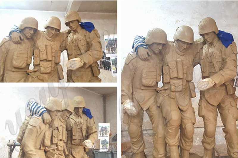 Bronze Military Monument Statue Sculpture for Sale BOKK-40