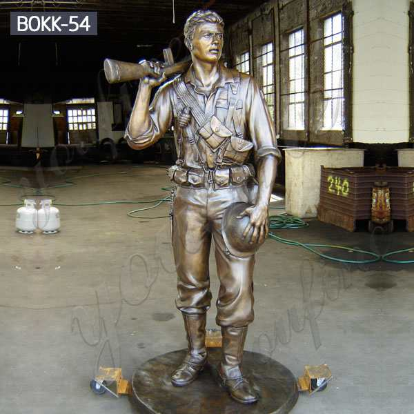 High Quality Bronze Military Lawn Ornaments Statue with Factory Price BOKK-54