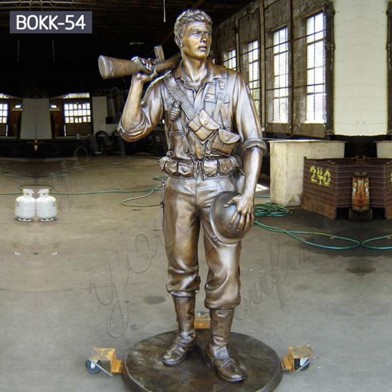 High Quality Bronze Military Lawn Ornaments Statue with Factory Price