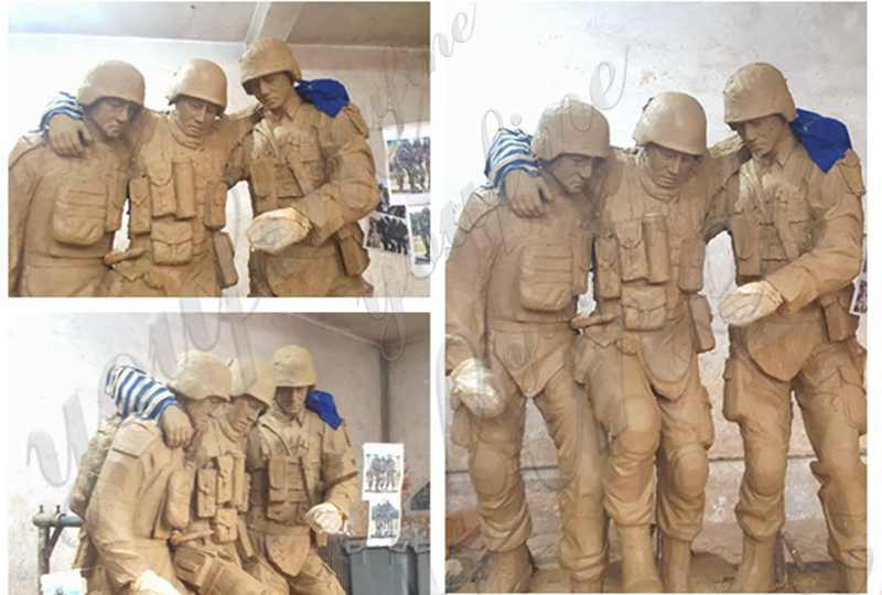 High Quality Casting Bronze Soldier Cross Statue BOKK-34